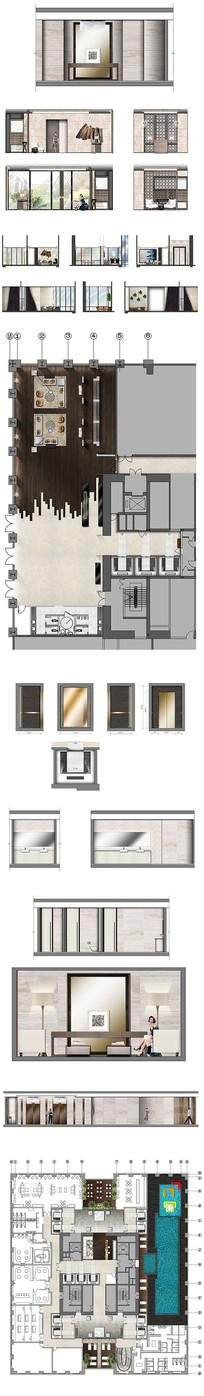 地产样板房彩平设计图