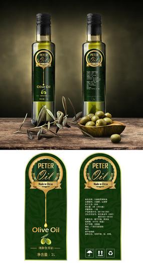 古典橄榄油包装设计 PSD