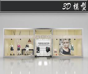 国外潮流女装橱窗3D模型
