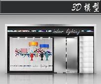 国外灯具橱窗3D模型