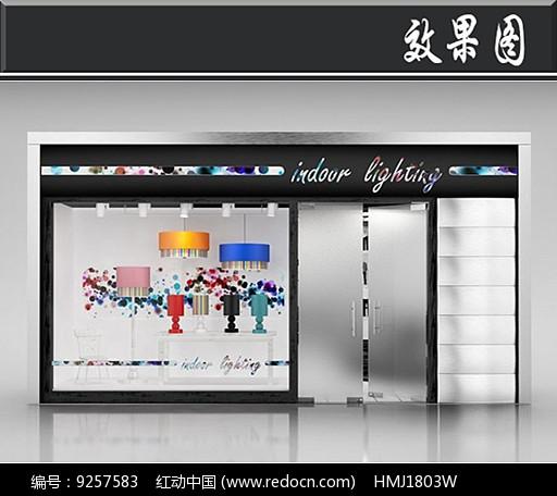 国外灯具橱窗效果图图片
