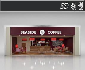 国外咖啡店橱窗3D模型