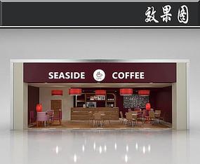 国外咖啡店橱窗效果图