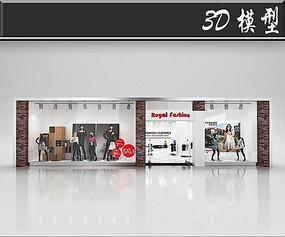 国外女装橱窗3D模型
