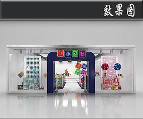 国外玩具店橱窗效果图