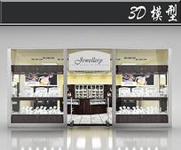国外珠宝首饰橱窗3D模型