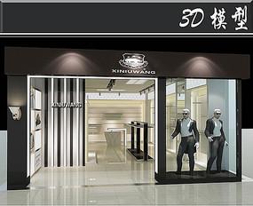 黑色简易服装店3D模型