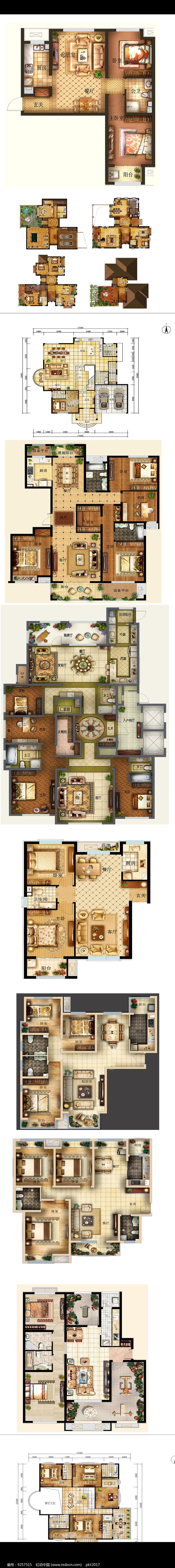 家居彩平户型布置图图片
