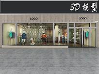 简易LOGO服装店门头3D