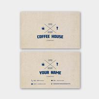 咖啡屋复古创意名片 PSD
