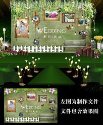 森系婚礼照片墙设计
