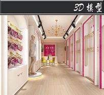 少女风内衣店3D模型