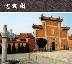 寺庙大门构筑