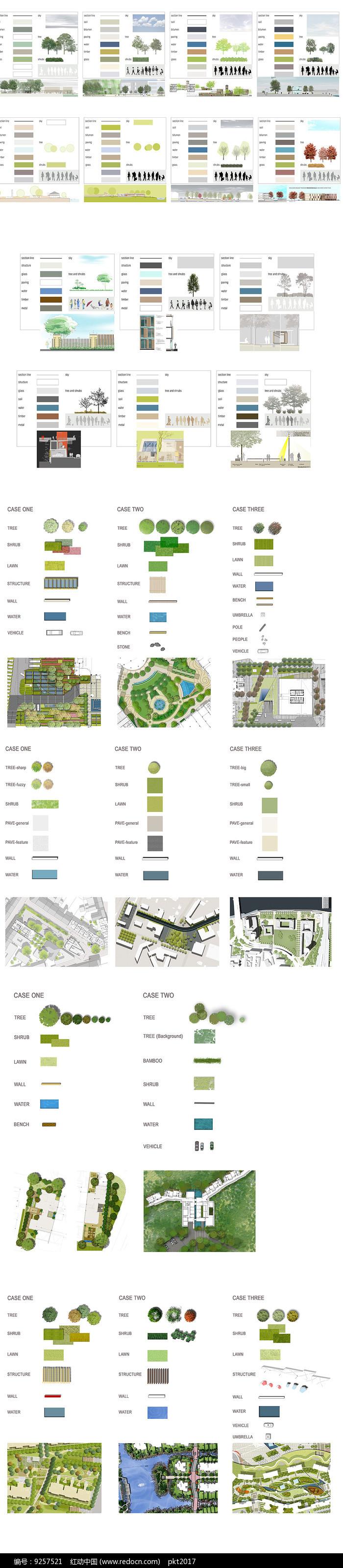 园林植物PSD图图片