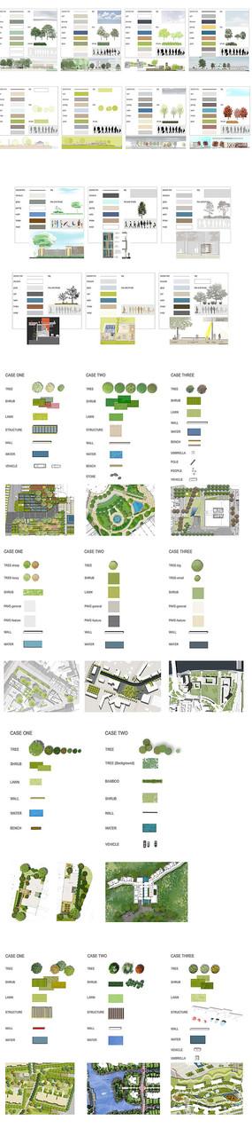 园林植物PSD图