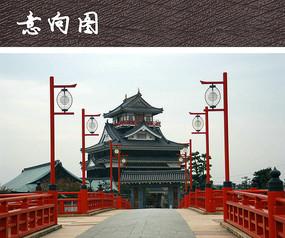 中式景观灯柱小品