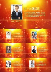 颁奖表彰人物介绍AE模板