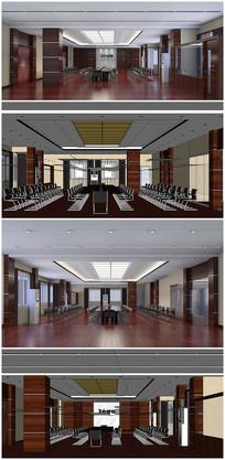 会议室草图模型加渲染效果图