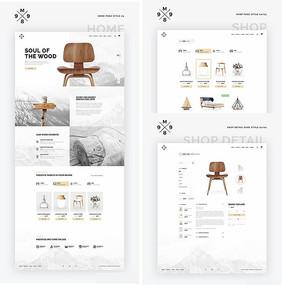 家具网站网页页面模板 PSD