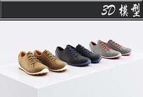 男士运动鞋3D模型 max