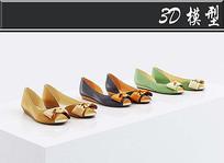 女生简易高跟鞋3D模型