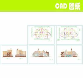 排屋别墅建筑图纸