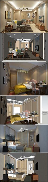 室内草图大师模型带渲染效果图