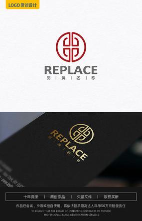 中字母古典logo设计