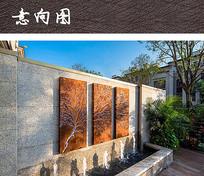 住宅水景组合装饰景墙