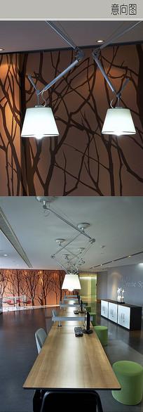 办公室折叠灯具