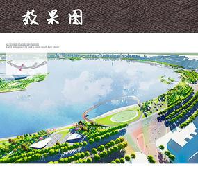 滨水栈桥广场鸟瞰图