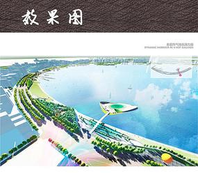 海滨休闲公园鸟瞰图
