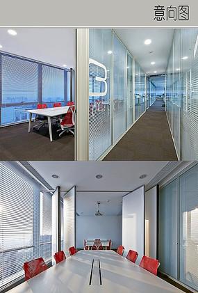 会议室玻璃格挡装修