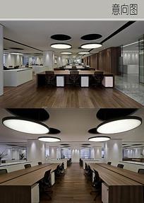 静谧风格办公室装修设计