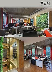 木质办公室装修设计