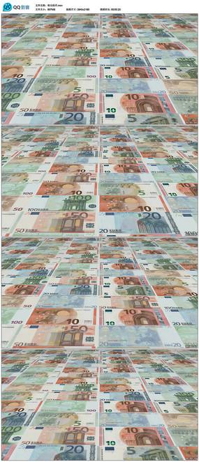 欧元纸币货币金钱商务金融钞票视频素材