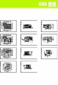 日式别墅建筑施工图