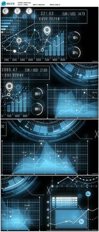 商务金融数据信息图表视频素材