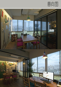 温暖的办公室装修设计