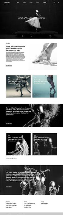舞蹈响应式网站首页 PSD