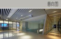 现代办公室入口大厅设计
