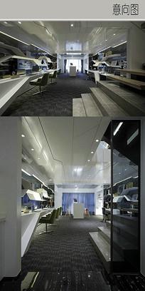 现代精简办公室装修设计