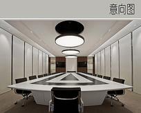 现代时尚会议室装修设计