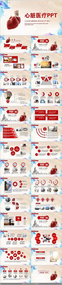 心脏医疗研究报告PPT模板