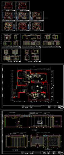 CAD欧式家装室内设计施工图