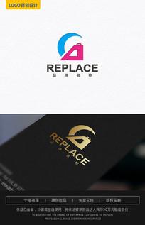 CA字母滑梯logo设计 AI