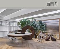 办公室内景观小品设计 JPG