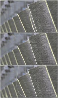 厂织布线团特写实拍视频素材