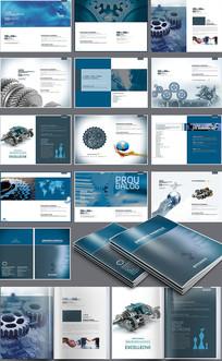 大气机械设备画册设计 PSD