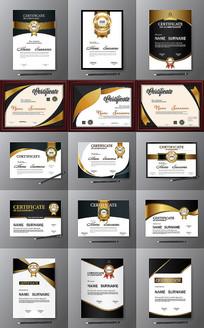 大气荣誉证书模板 EPS